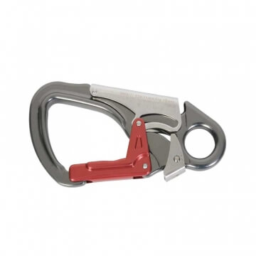 Triple Action Snap Hook red and silver