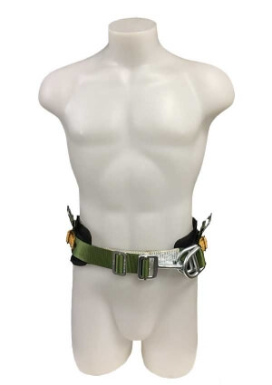 green safety belt front view